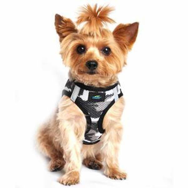 American River Choke Free Dog Harness Camouflage Collection - Gray Camo