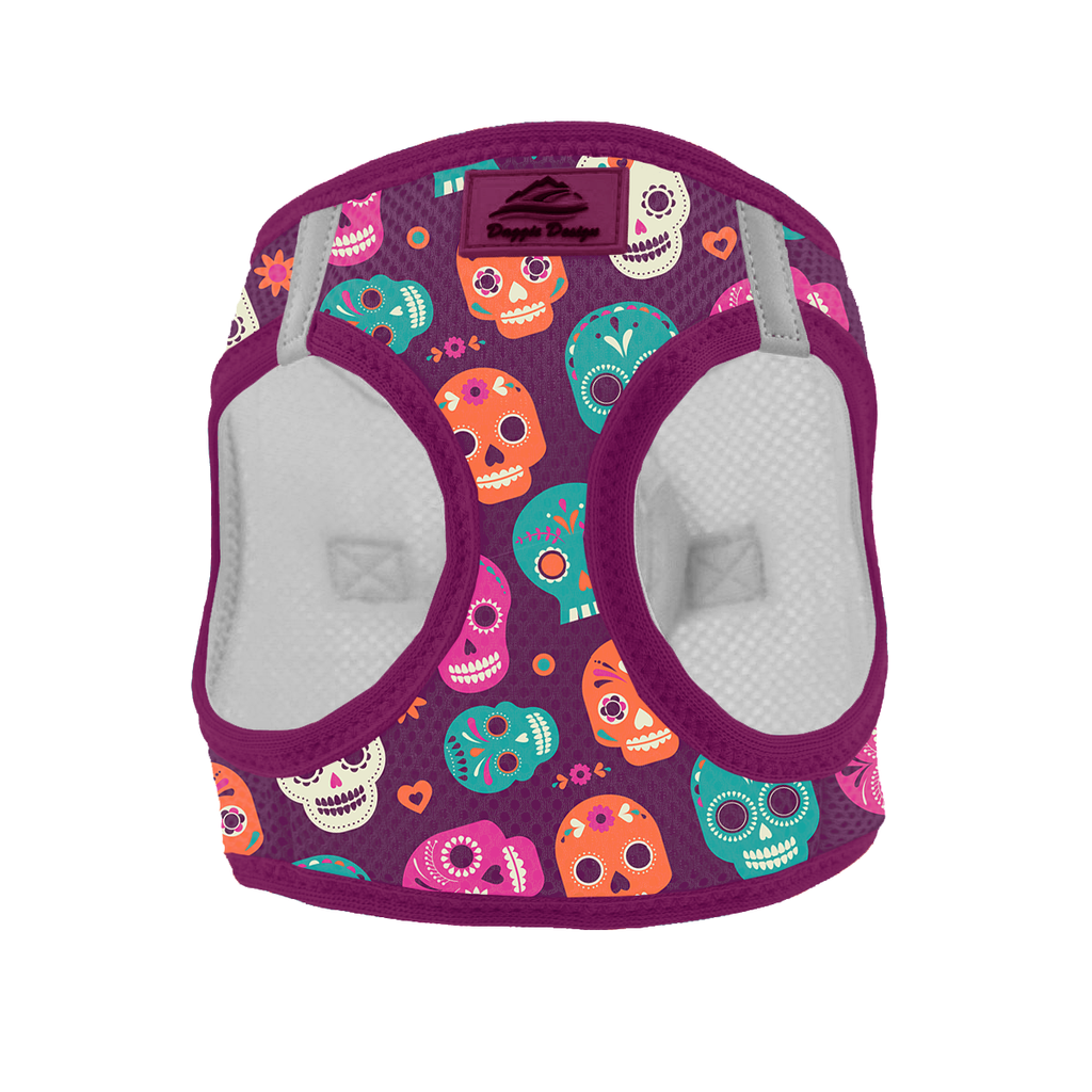 American River Choke Free Dog Harness Day of the Dead - Sugar Skulls