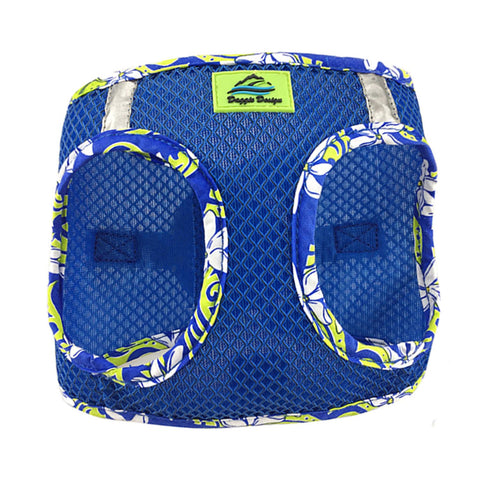 American River Choke Free Dog Harness Cobalt Blue Hawaiian Trim - Clearance