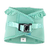 American River Choke Free Dog Harness - Teal Polka Dot