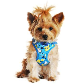 Wrap and Snap Choke Free Dog Harness by Doggie Design- Hawaiian Blue