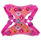 Embrace a beautiful and relaxed tropical lifestyle with this easy-to-use Wrap and Snap Choke-Free Dog Harness in Maui Pink.   The Wrap and Snap Harnesses by Doggie Design are easy to use, lightweight, soft and feature dynamic colors and prints. You'll love how sweet and fresh this Maui Pink floral print looks on your little princess. It's a ready-to-wear style that is comfortable and durable.