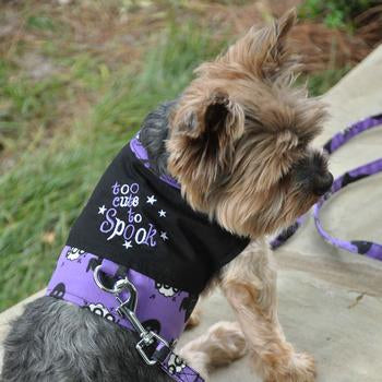 Halloween Dog Harness Vest by Doggie Design - Too Cute To Spook Clearance