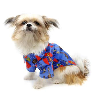 Hawaiian Camp Shirt by Doggie Design - Ukuleles and Surfboards