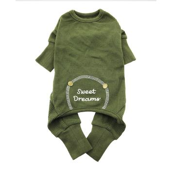 Sweet Dreams Thermal Dog Pajamas Herb Green