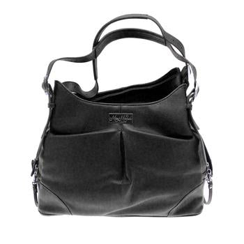Black Faux Leather Airline Approved Dog Carry Bag Sadie Michele Mia