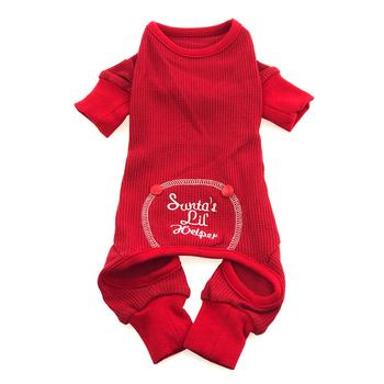 Sweet Dreams Thermal Dog Pajamas Santa's Lil' Helper