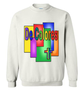 Stained Glass De Colores Crewneck Sweatshirt