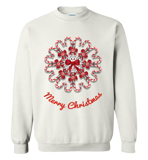 Candy Cane Christmas Crewneck Sweatshirt
