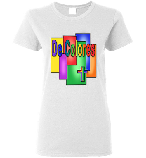 Stained Glass De Colores Short Sleeve Ladies