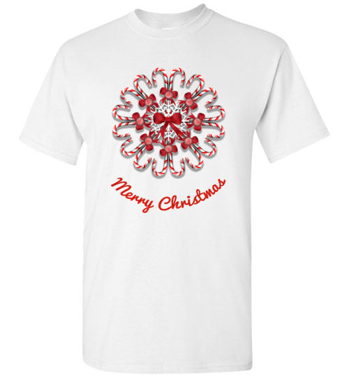 Candy Cane Christmas Short Sleeve