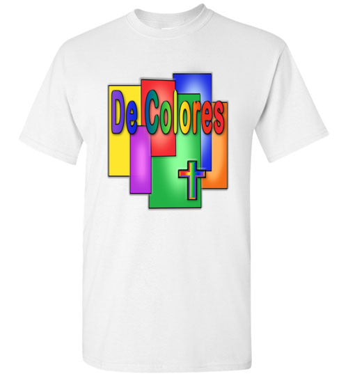 Stained Glass De Colores Short Sleeve T-Shirt