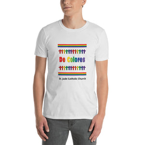 De Colores Rainbow Crosses Short-Sleeve Unisex T-Shirt