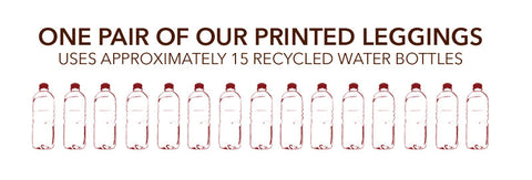 One pair of legging recycled approximately 15 plastic bottles.