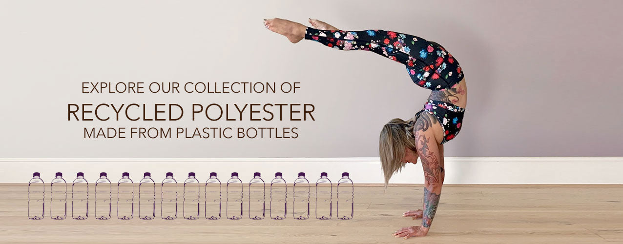 Shop recycled polyester yoga clothing