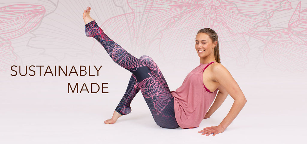 Some of the best printed yoga leggings that are eco friendly and sustainably made