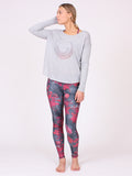 The Galaxy Maxi Yoga Top in Heather Grey