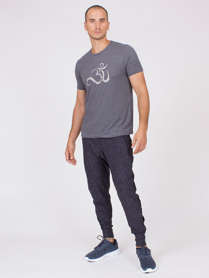 The Agility Yoga Pant For Men in Steel Heather