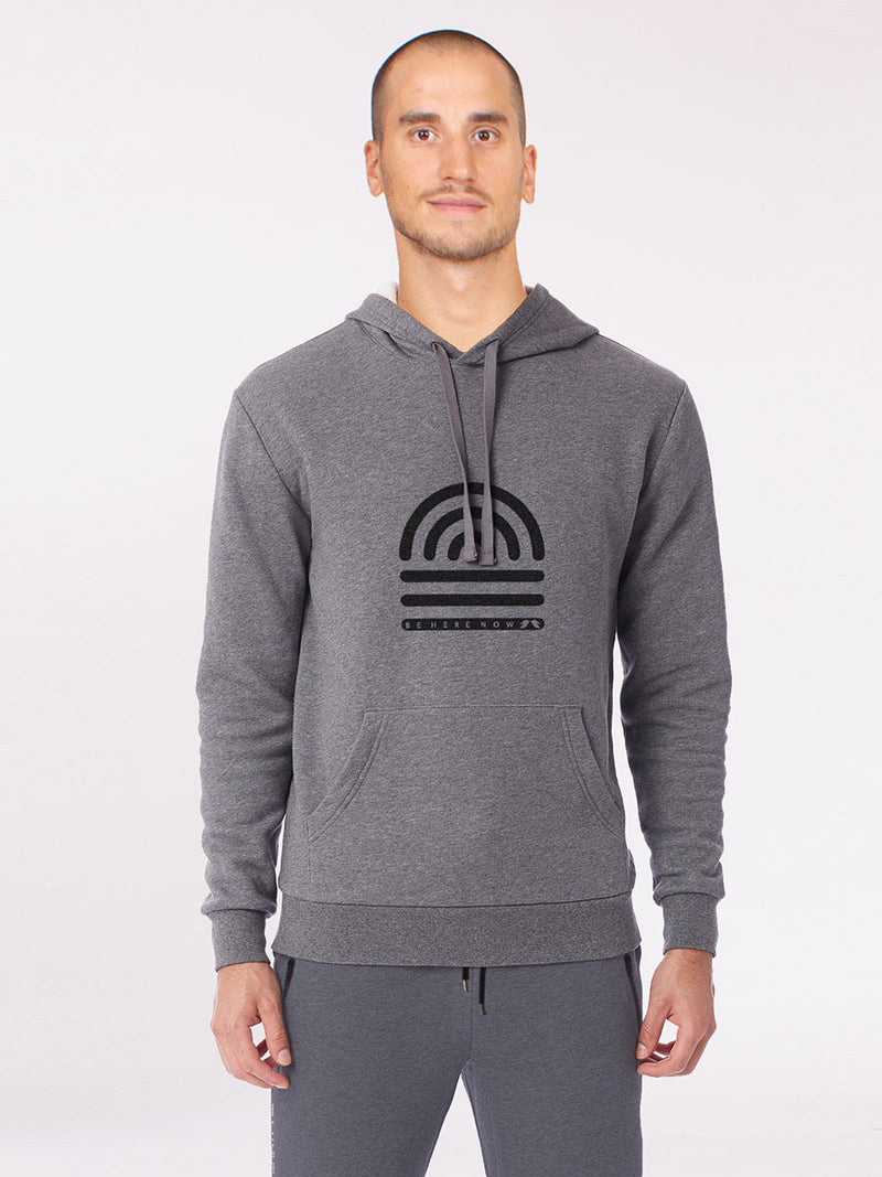 The Be here now hoodie in grey 3
