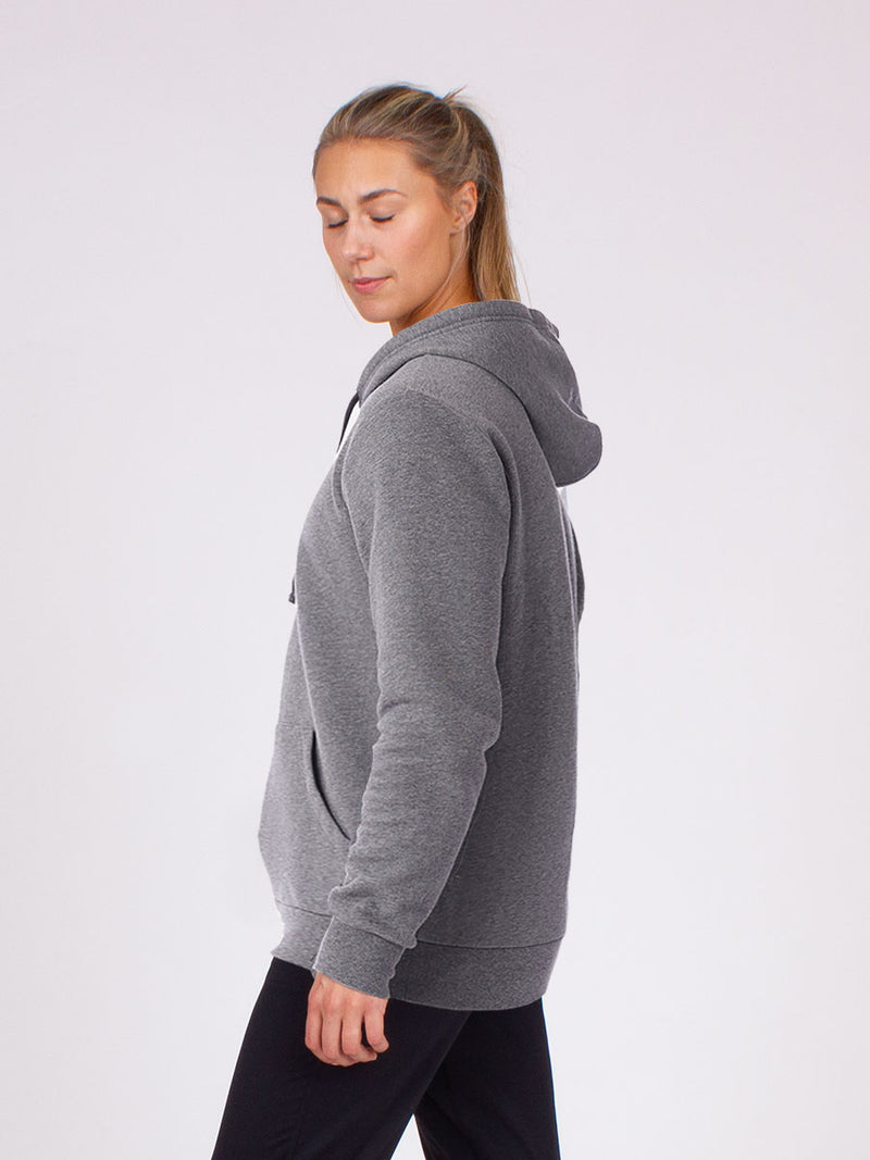 The Be here now hoodie in grey 4