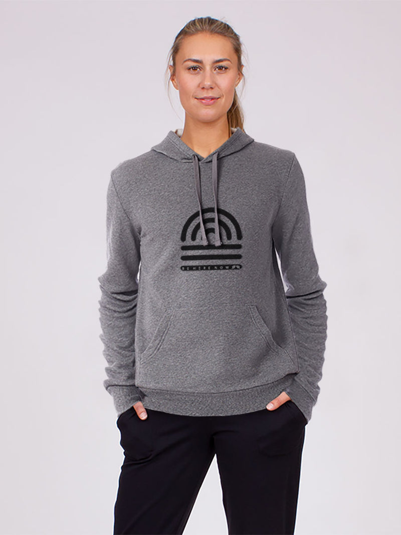 The Be here now hoodie in grey 2