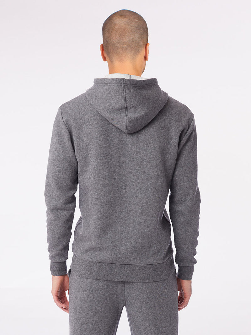 The Be here now hoodie in grey 6