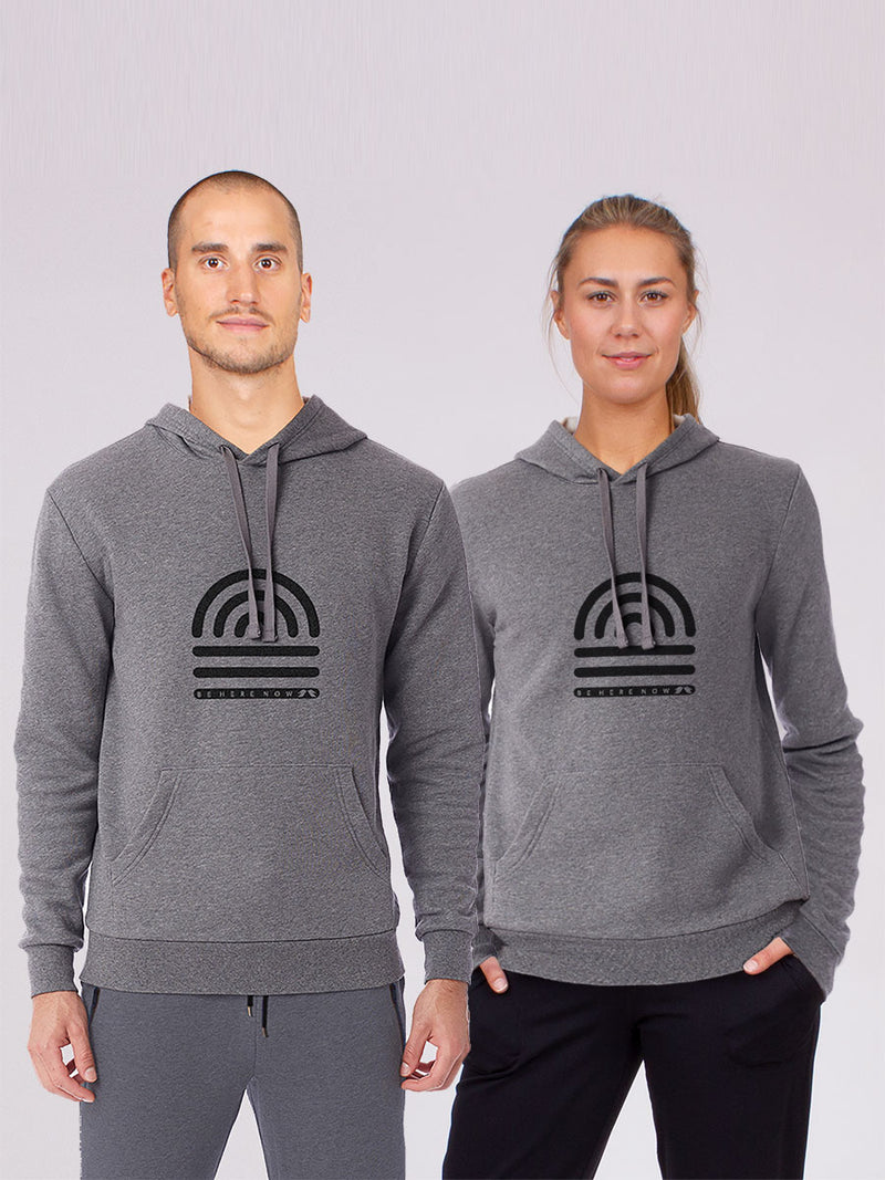 The Be here now hoodie in grey 1