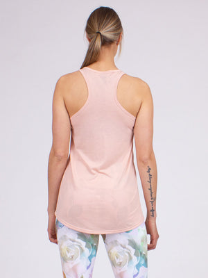 Peace Love Yoga Tank in Blush