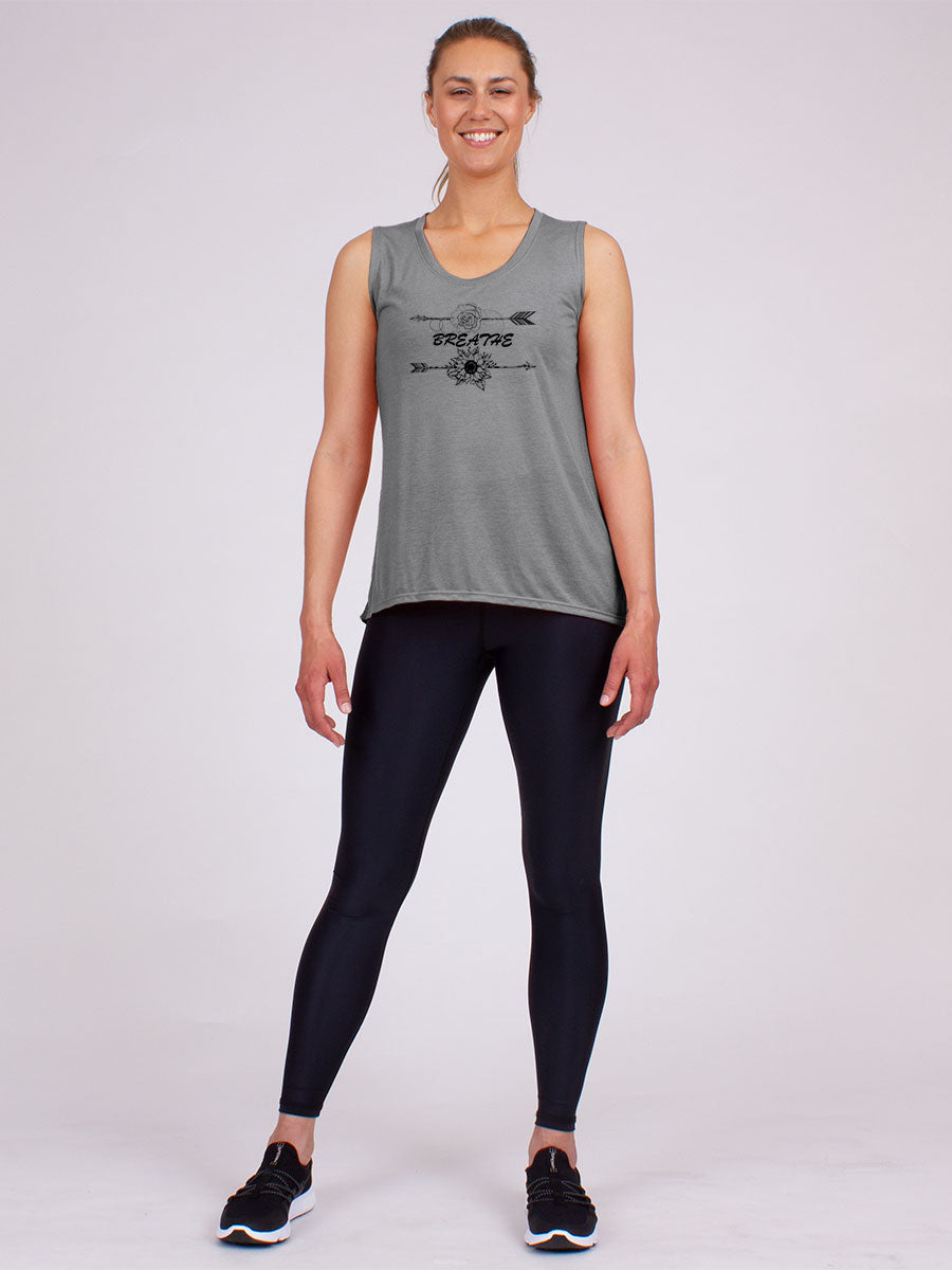 The Breathe Tank in Grey