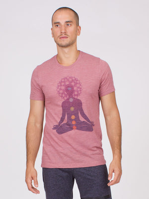 The Chakra Yoga Tee for Men in Mauve