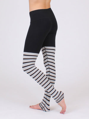 The Float Bamboo Leggings in Black Marble