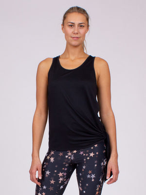 The Grace Yoga Tank in Black