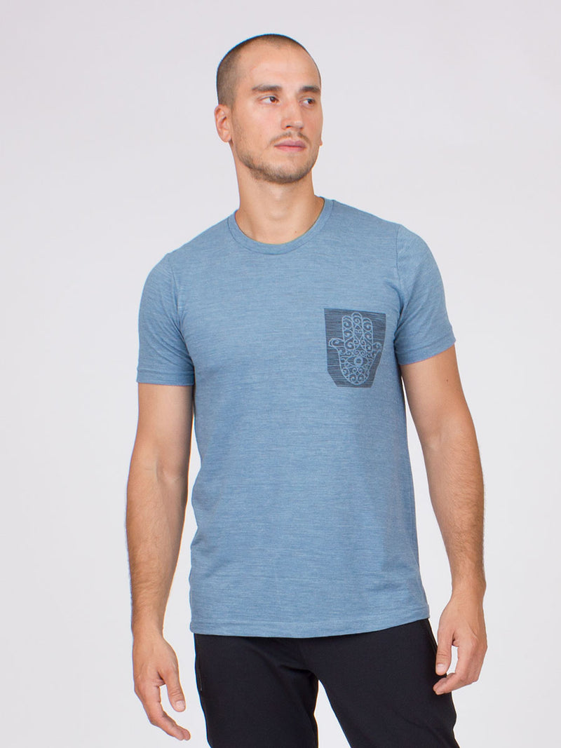 The Hama Yoga Tee for Men in Ocean
