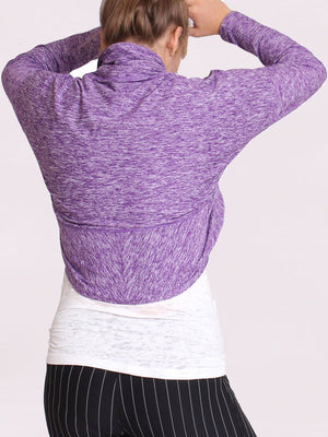 The Hug Shrug in Purple Heather