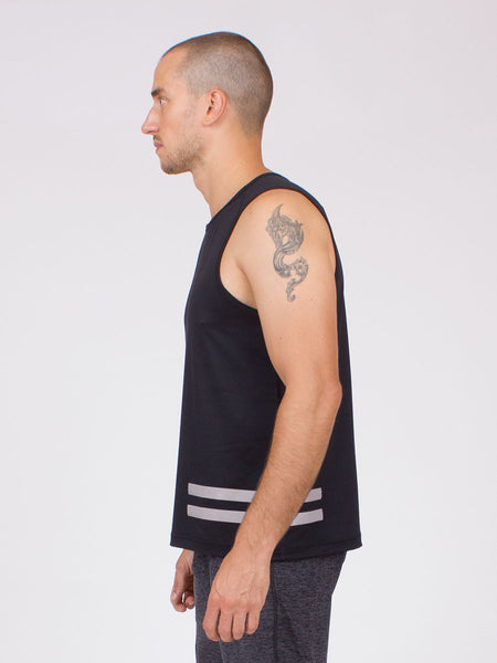 The Liberation Yoga Top for Men in Black