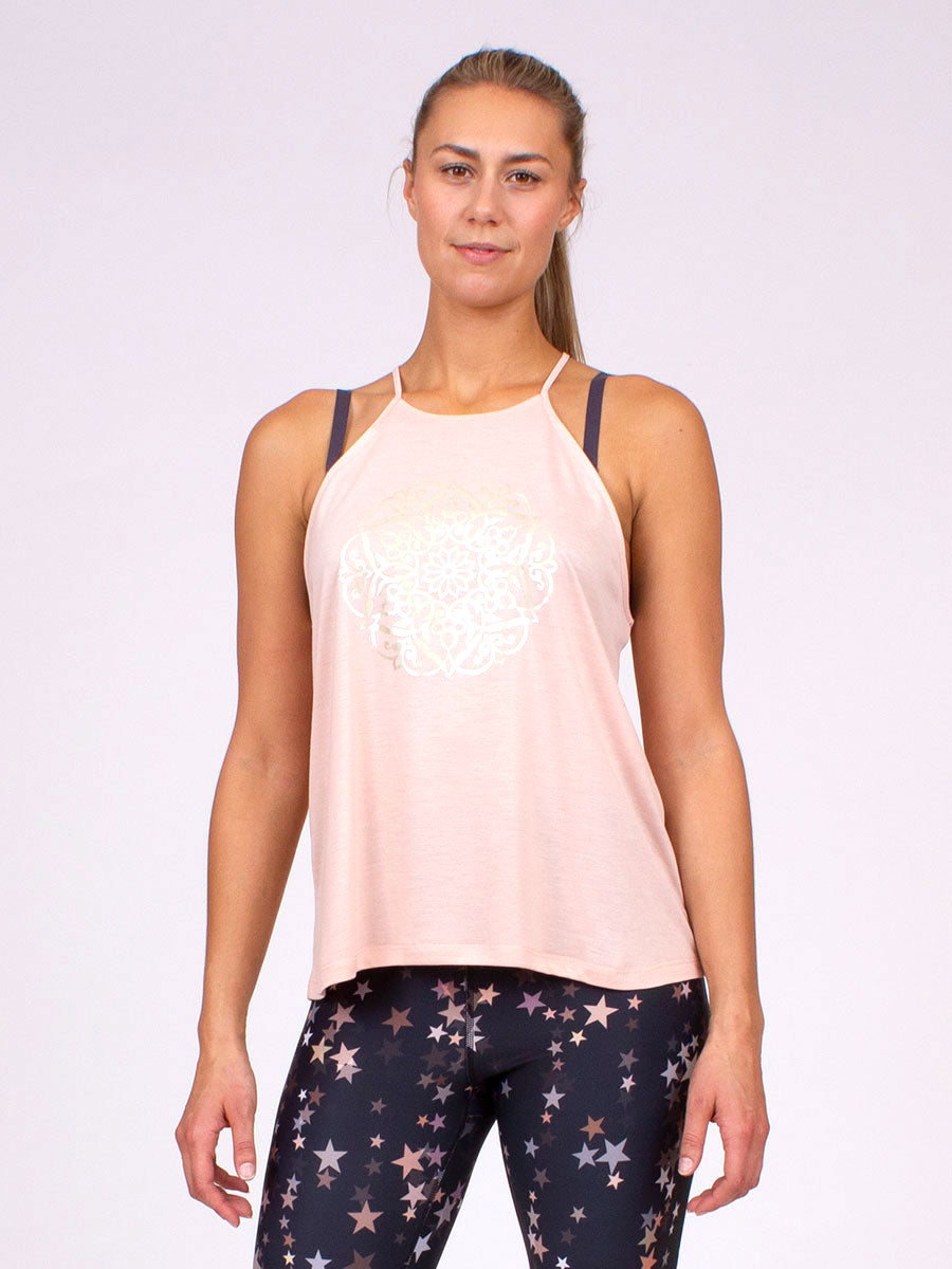 The Mandala Halter Top in Blush