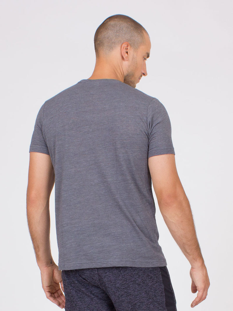 The Ohm Yoga Tee for Men in Asphalt
