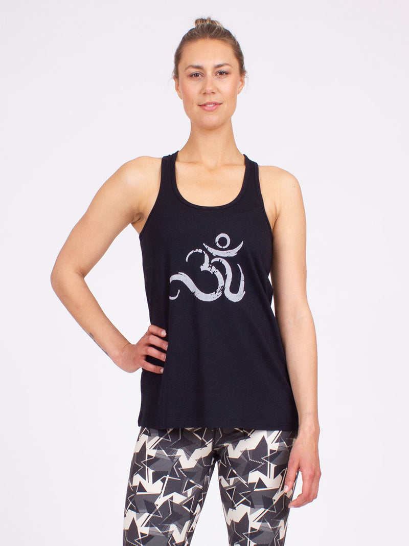 The Ohm Yoga Tank top in Black