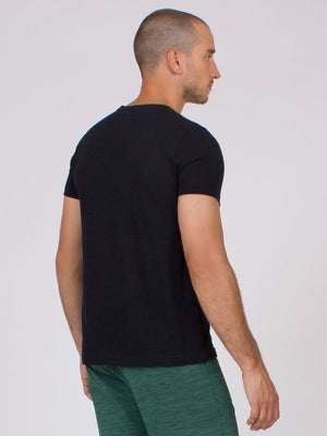 The Ohm Yoga Tee for Men in Black