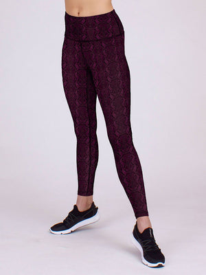 Vida Yoga Leggings in Rose Cobra