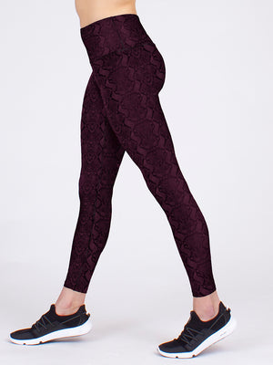 The Vida Yoga Legging in Rose Cobra