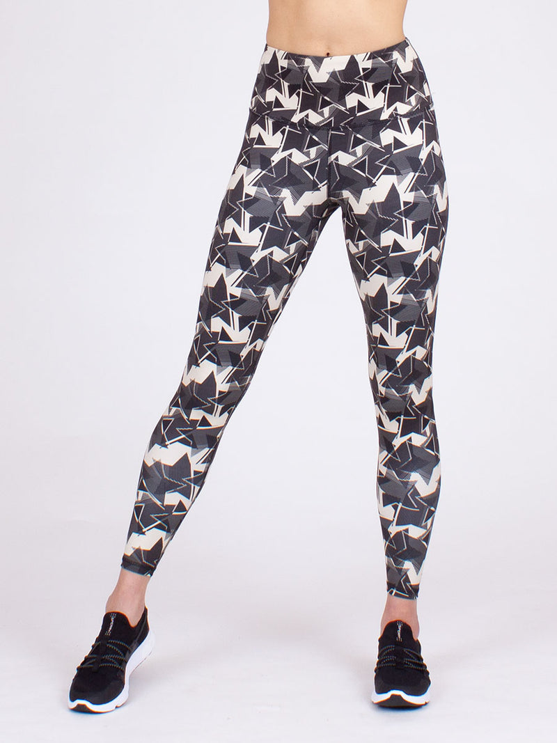 The Vida Midi yoga Legging in Star Burst