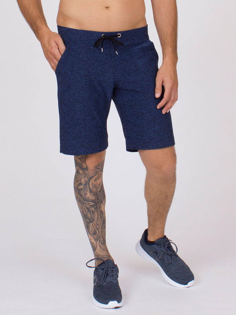 The Vida Yoga Short for Men in Midnight Heather