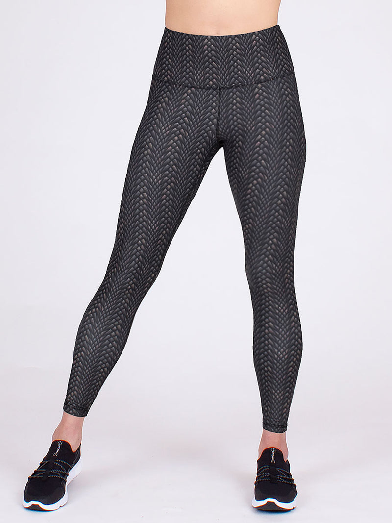 The Vida Yoga Legging in Dragon Stone