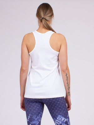 Ohm Yoga Tank White