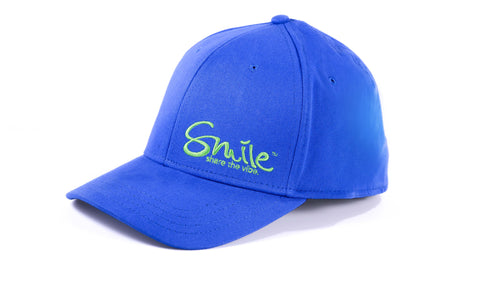 Sure Fit Hat Blue | Lime - Smile Share The Vibe