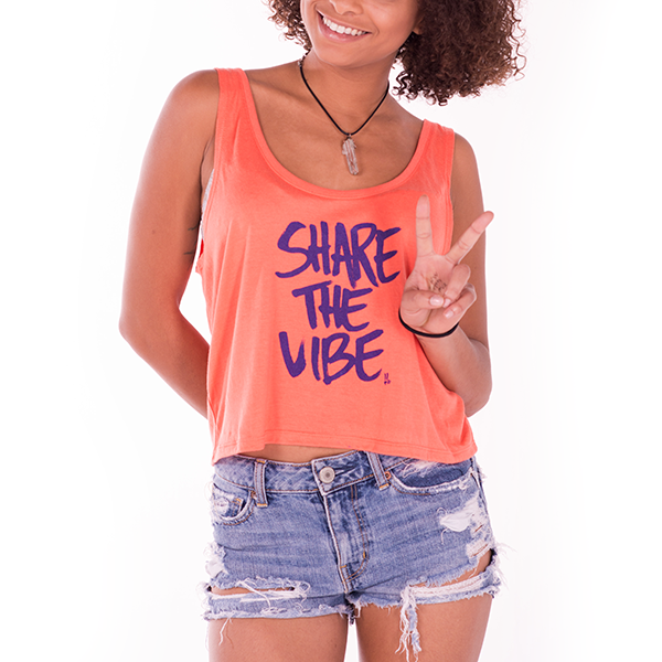 Smile Gals Crop Top | STV #1 | Coral - Smile Share The Vibe