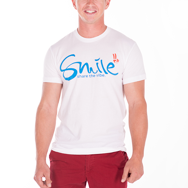Smile Guys T-Shirt | Classic | White - Smile Share The Vibe