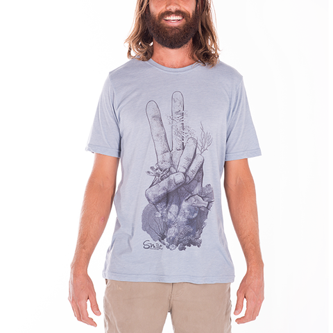 Smile Guys T-Shirt | Peace Reef | Blue - Smile Share The Vibe