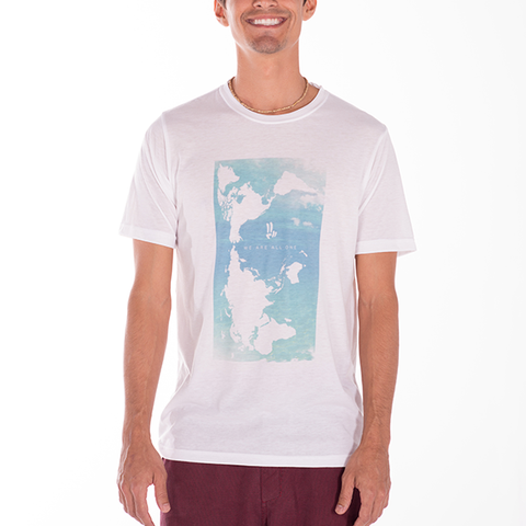 Smile Guys T-shirt | We Are All One | White - Smile Share The Vibe